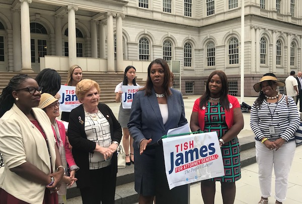 Tish James City Hall rally