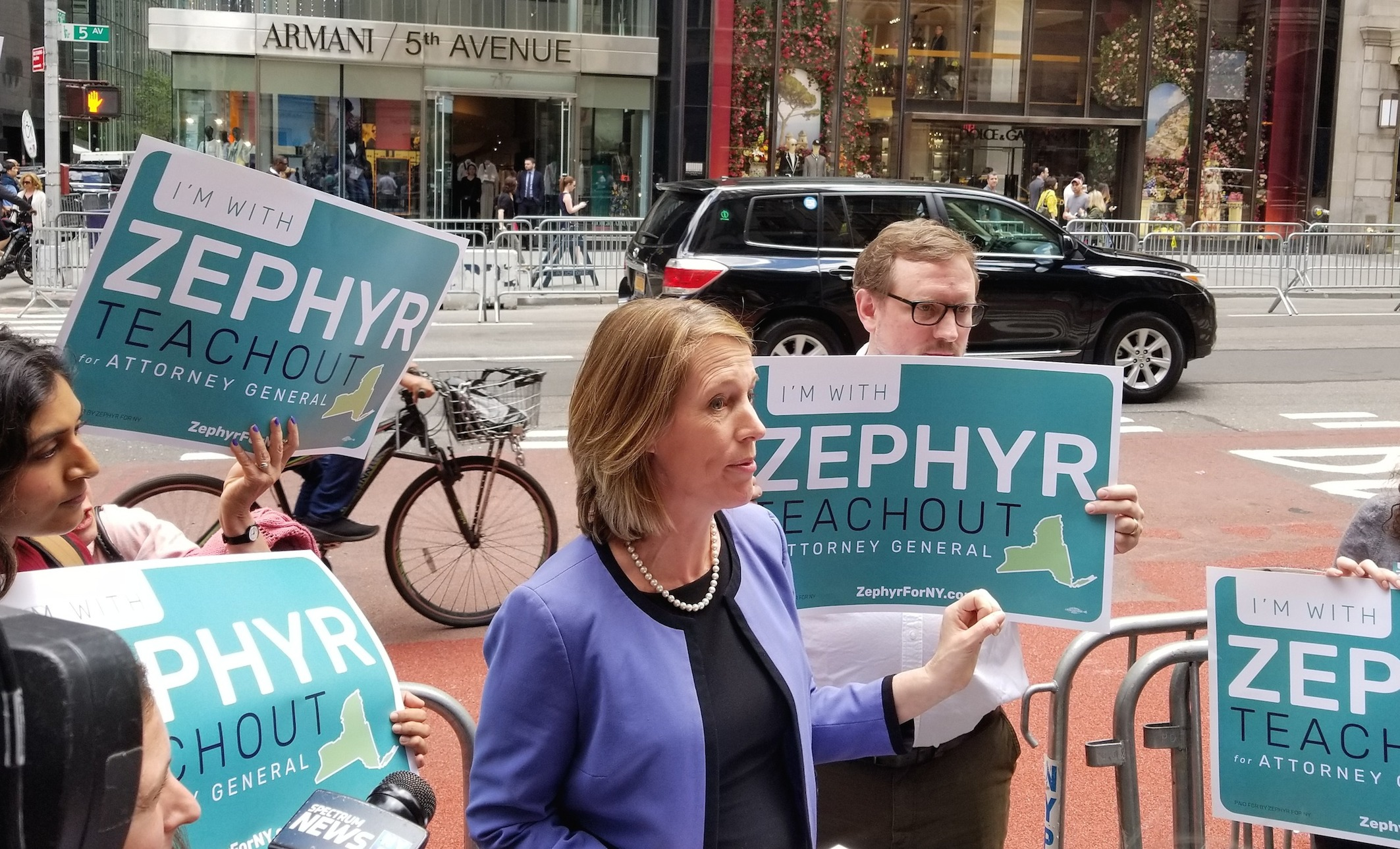 zephyr teachout AG launch trump tower